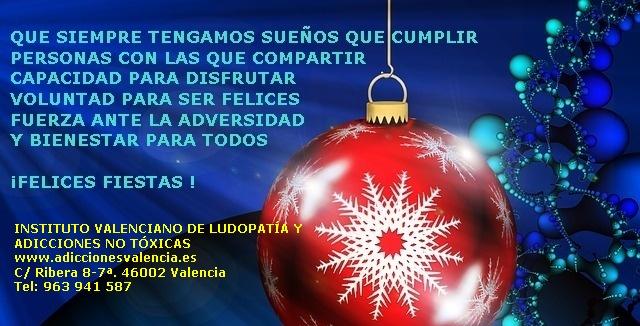 Felicitación Navidad.Consuelo Tomás. www.adiccionesvalencia.es. tratamiento adicciones