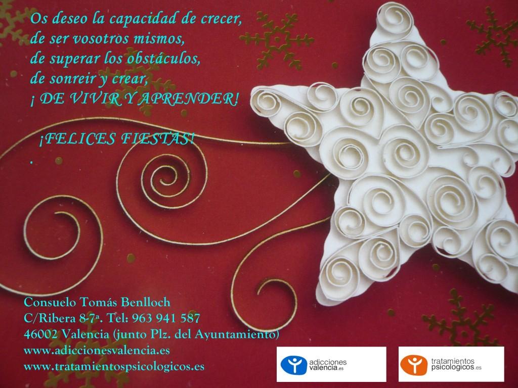 Felicitación 2015. Foto Consuelo Tomás. 21-12-2015. Psicólogos Valencia
