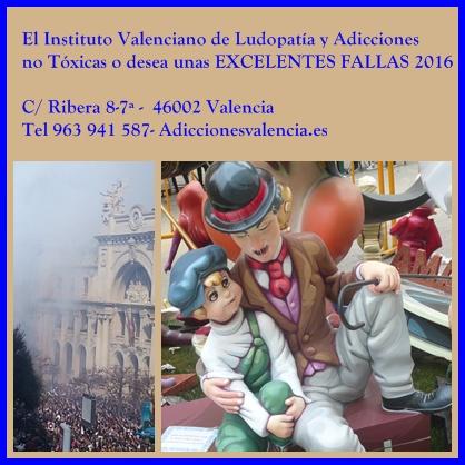 Fallas 2016. Foto Consuelo Tomás. Adiccionesvalencia.es. Instituto Valenciano de Ludopatía y Adicciones no Tóxicas.