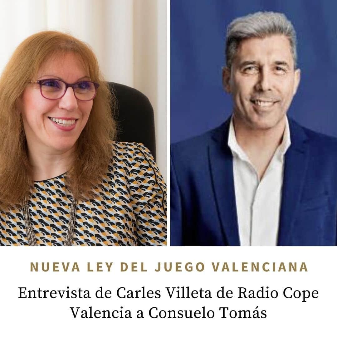 Entrevista en Radio Cope Valencia de Carles Villeta