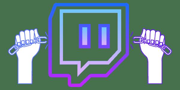 Logo de Twitch con cadenas